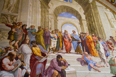 The School of Athens, painted by Raphael Room of the Signature Vatican Museum Vatican City, Italy