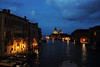 Night in Venice.  From Accademia Bridge.