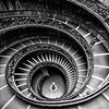 Man on Double Helix Staircase, Vatican City Museum