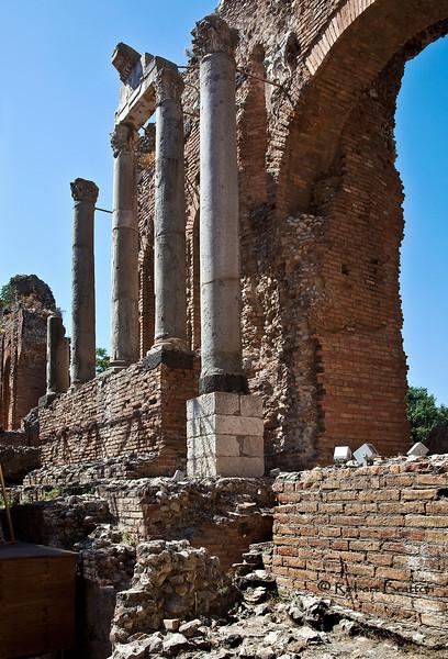 Ruins in Taormina, Sicily