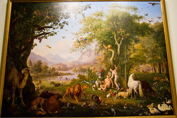 Adam and Eve in Eden, painted by Wenzel Peter Vatican Museum Vatican City, Italy