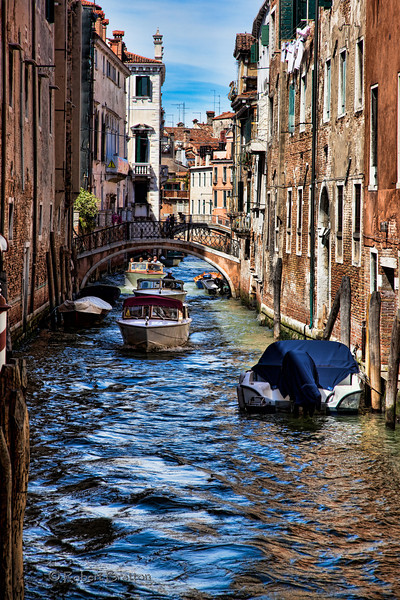 Street of Boats in Venice