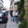 Audrey, Jess, and Carrie our first mornning in Florence outside our hotel. Cindy, our room did not have a view.