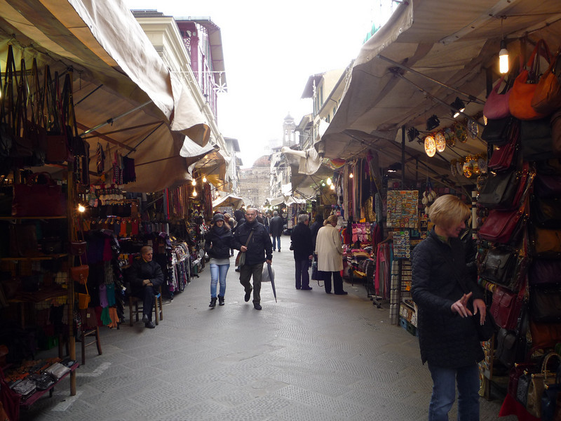 Our favorite market to find treasures such as scarves, belts, minatures statues of David and gelato.