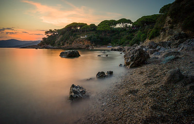 Elba Beach at Sunset