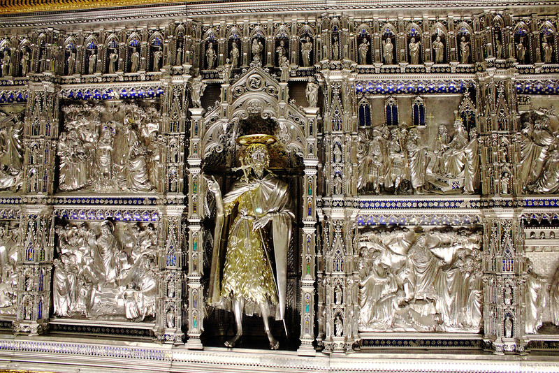 Gold and silver cabinet.  Duomo museum.  (View it X3Large to see the intricacy).