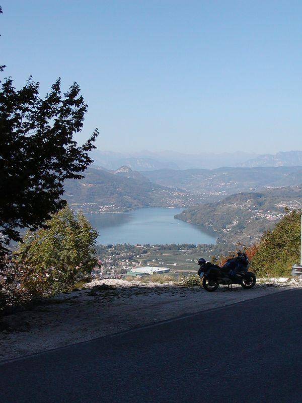 View from the Kaiserstieg to Lago di Caldonazzo (Dolomites)