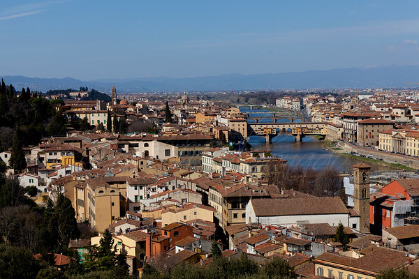 Florence, Italy View from the Piazzale Michelangiolo