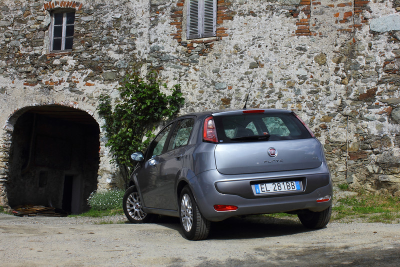 The Fiat that I drove through the tunnels of Liguria at up to 145 (kph).