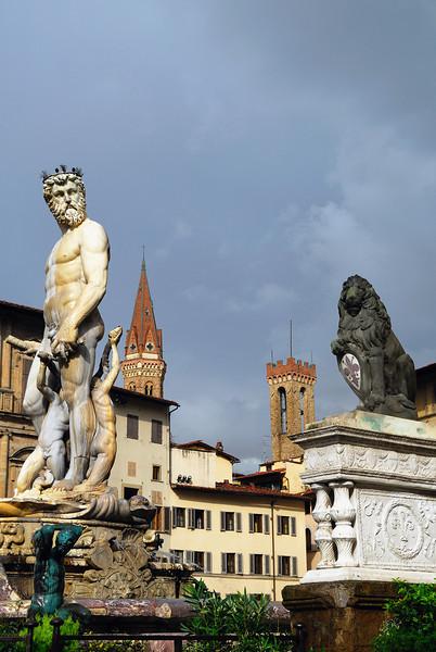 Neptune in the Plaza de la Signoria, Florence