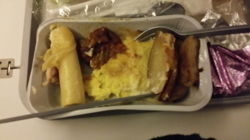 """Breakfast"" on the British Airways flight out. Worse than it looks."