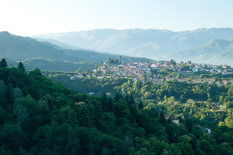 Tuscany--morning view of Barga.