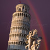 Rainbow Over the Leaning Tower of Pisa  6215  w24