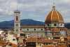 The Duomo from the tower at Palazzo Vecchio.  Notice the people on the top of the dome.