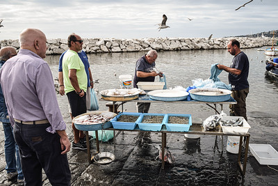 Naples: Mergellina, fish market