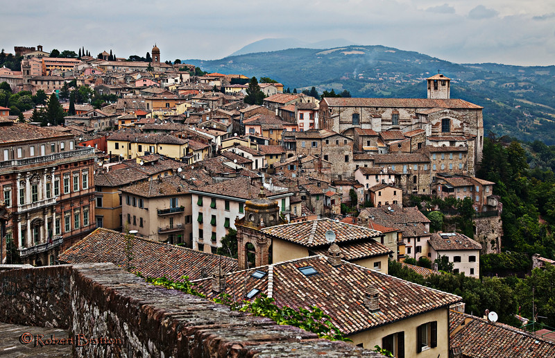 View from Steps in Perugia