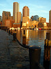 Sunrise at Rowes Wharf. Boston