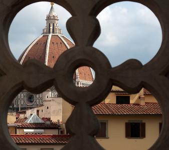Duomo from Galleria degli Uffizi, Firenza