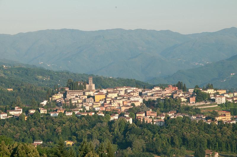 Tuscany-- midday view of Barga from Resort- IL Ciocco, Castelvecchio Pascoli · Barga, Lucca