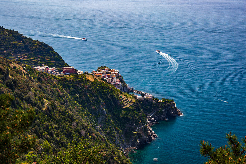 Manarola as seen from the Volastra-Corniglia trail