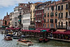 Grand canal view from the Rialto bridge <br /> A main street of Venice