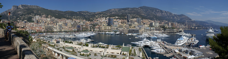 Monaco, France from above
