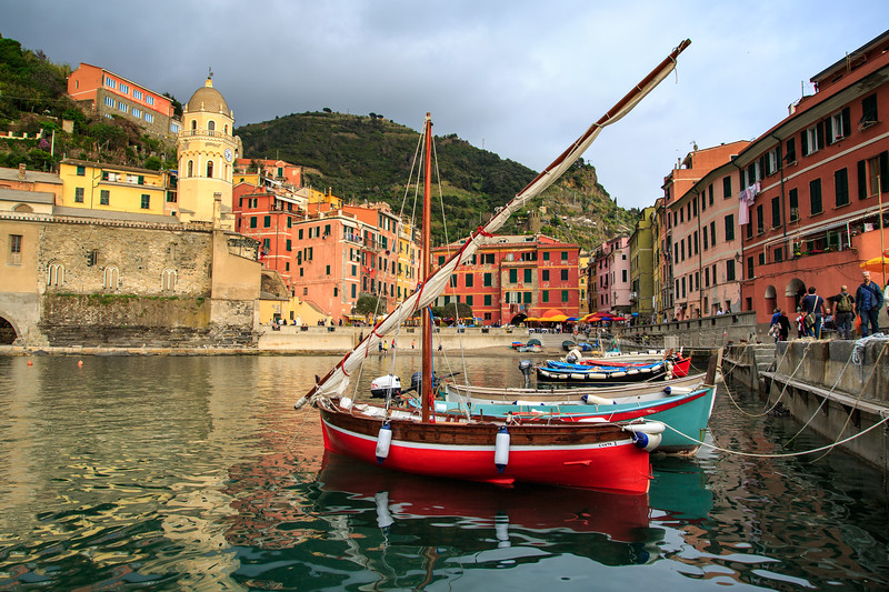 The port at Vernazza