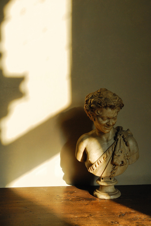 Afternoon light on a bust in the Palazzio Vecchio, Florence
