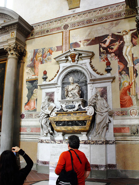 Galileo's tomb in Santa Croce Church, Florence.