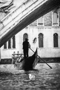 Gondolier.  Venice, Italy.