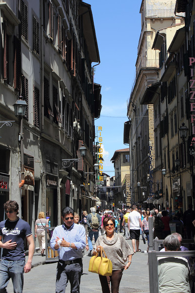 Florence, the street I stayed on.