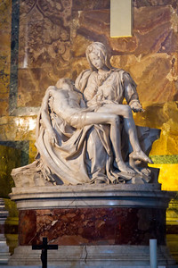 Pietà, sculpted by Michelangelo St. Peter's Basilica Vatican City, Italy