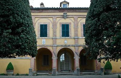 La Foce, near Montepulciano - main villa, facade