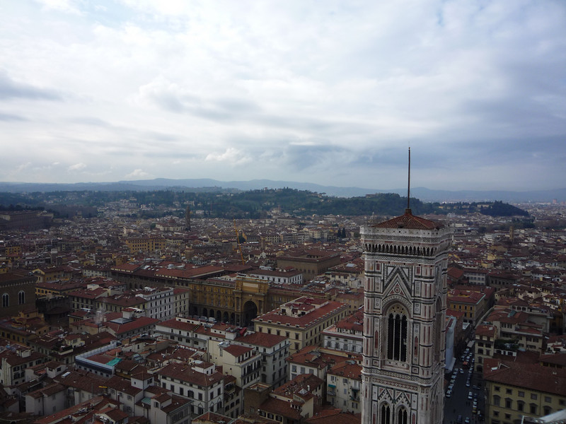 We ascended the 463 steps to the top.