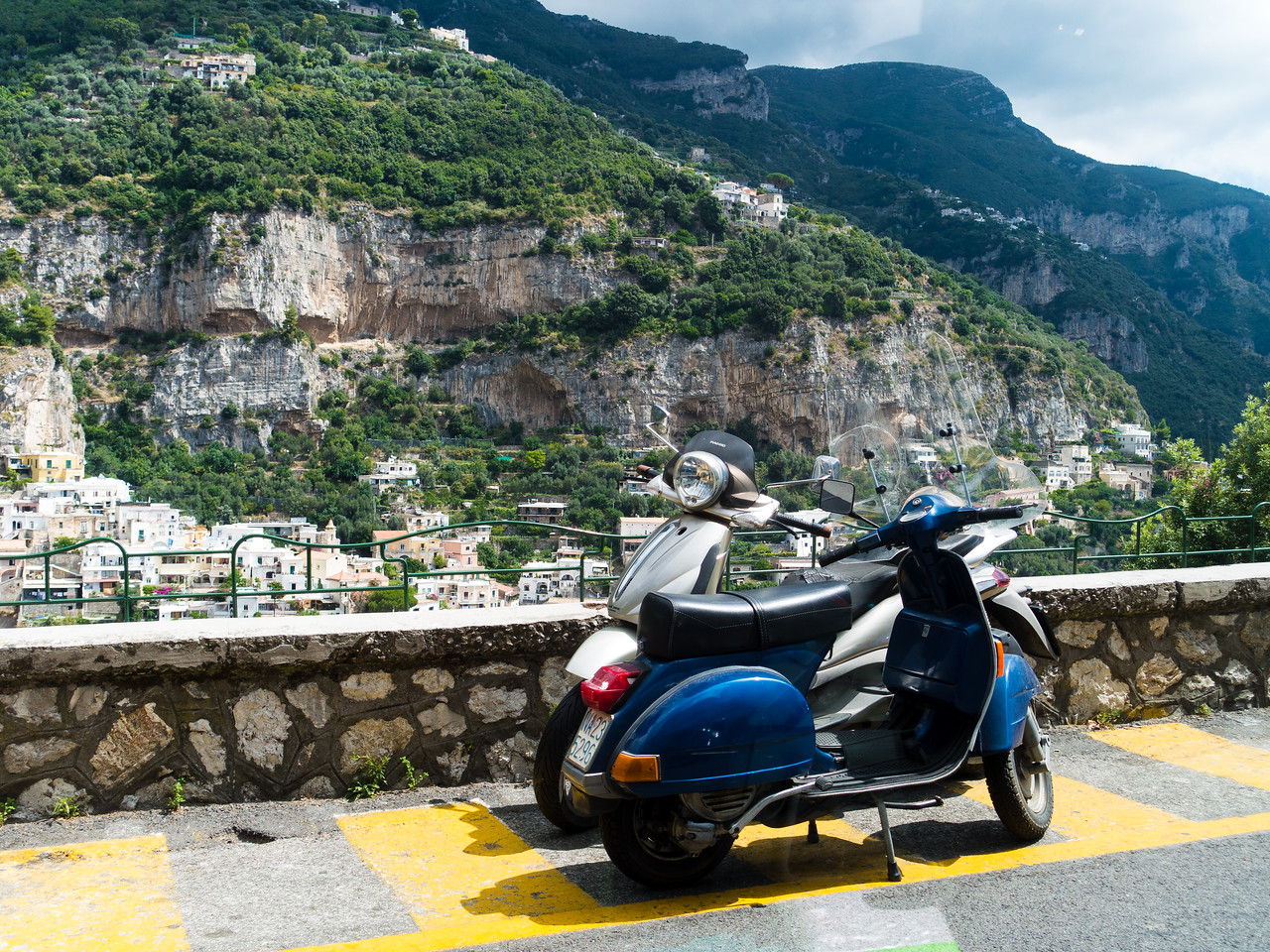 Vespas and the Amalfi coast