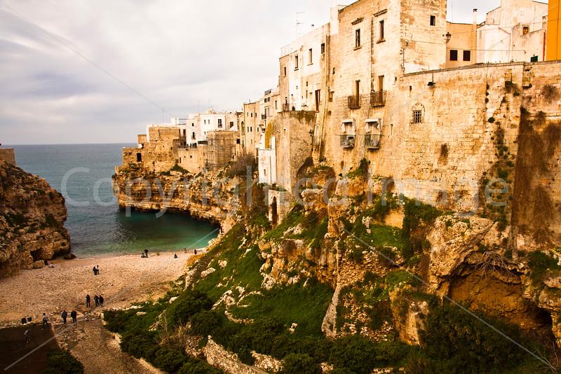 Polignano-a town on the Adriatic coast in Puglia