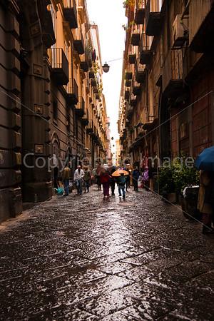 Naples-Rainy streets