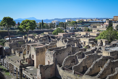 Herculaneum (destroyed 79 AD) and modern Ercolano