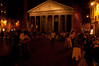 Pantheon, lively at night.