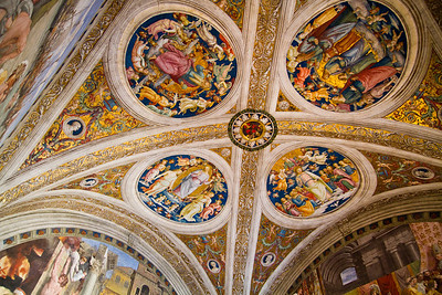 Room of the Fire in the Borgo, painted by Raphael Vatican Museum Vatican City, Italy