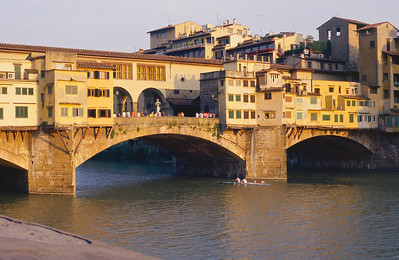the Ponte Vecchio, Firenze, with rowers