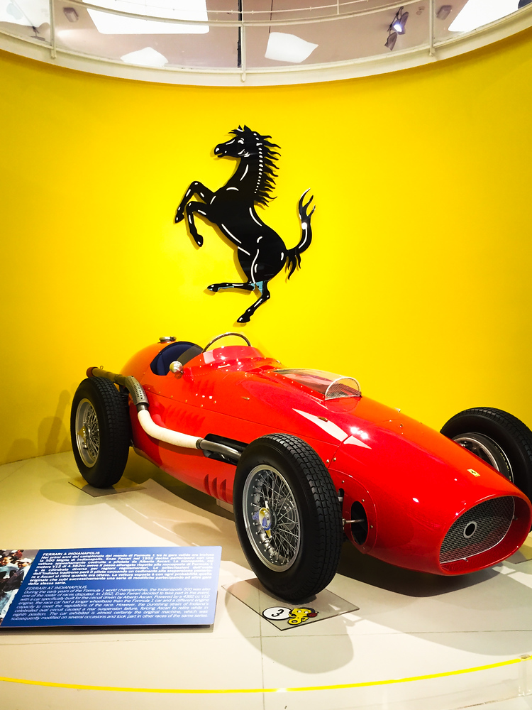 The Ferrari Experience. Don't miss the Ferrari museum in Maranello. It gives a great overview of the history and culture of Ferrari even if you aren't a big lover of cars.