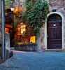 Deadend Street and Restaurant entrance in Siena