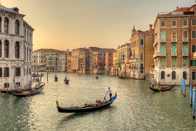 From the Realto Bridge, Venice, Italy