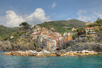 Riomaggiore from the sea