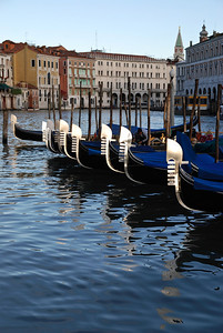 Gondolas waiting.