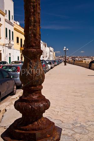 Lightpost on the shore