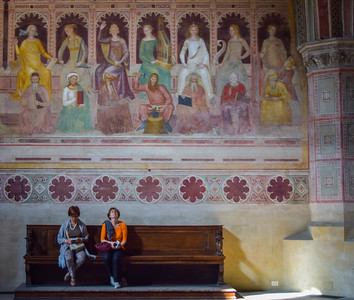Florence: Santa Maria Novella, two women and company