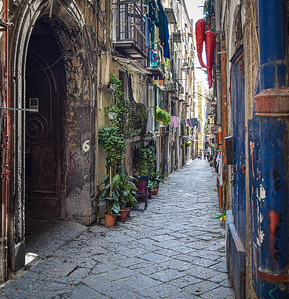 Naples,  Spanish Quarter, via Purgatorio