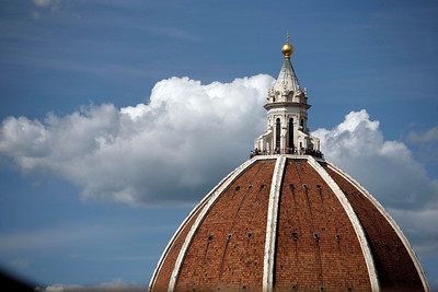 The top of the dome of the Duomo Cathedral, Florence, Italy.